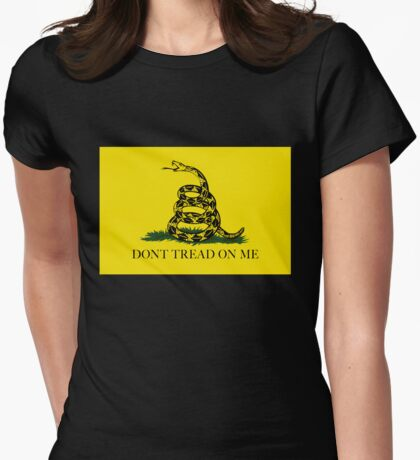 Gadsden Don't Tread On Me Flag - Authentic Version Womens Fitted T-Shirt