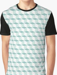 Cubes pattern in blue Graphic T-Shirt