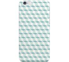 Cubes pattern in blue iPhone Case/Skin