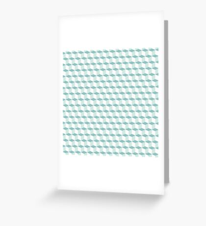 Cubes pattern in blue Greeting Card