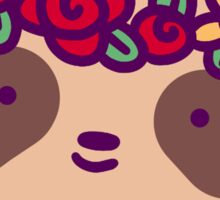 Flower Crown Sloth Face Sticker