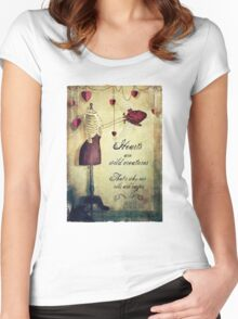 hearts are wild creatures Women's Fitted Scoop T-Shirt