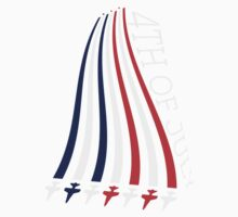 Jets with Stars and Stripes One Piece - Short Sleeve