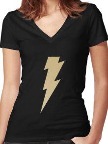 Golden thunderbolt Women's Fitted V-Neck T-Shirt