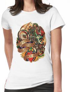 Jesus Wheelie Womens Fitted T-Shirt
