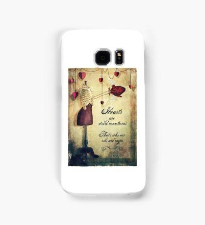 hearts are wild creatures Samsung Galaxy Case/Skin