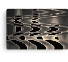 Silvery Abstraction Toned  Canvas Print
