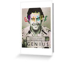 genius pablogo tee Greeting Card