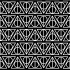 HARRY POTTER - Deathly Hallows (on white) black by HECoulson