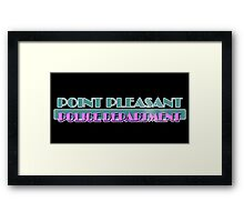 Point Pleasant Police Department - Jimmy Fallon Framed Print