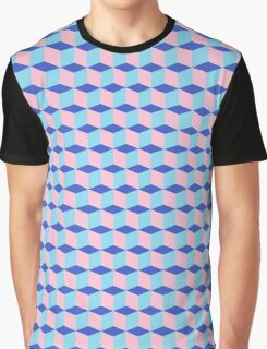 Pink cubes Graphic T-Shirt