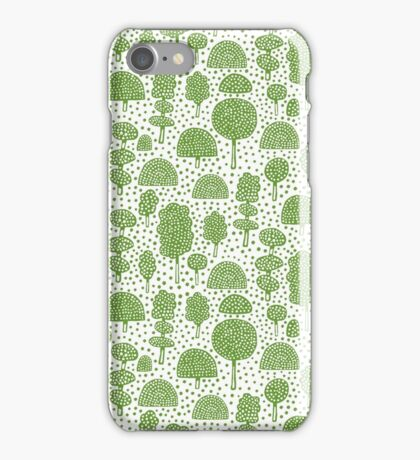 Arboretum 230715 - Avocado Green on White iPhone Case/Skin
