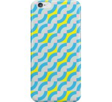 Pattern with diagonal waves iPhone Case/Skin
