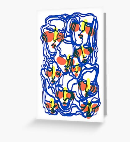 morphing faces Greeting Card