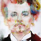 ALFRED JARRY - watercolor portrait by lautir