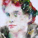 LOU ANDREAS-SALOME - watercolor portrait by lautir