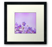 Flowers Art Abstract Framed Print