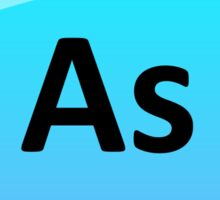 Arsenic Element Symbol - Periodic Table Sticker