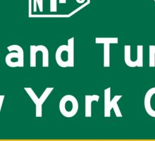 Holland Tunnel-New York City, NJTP, Road Sign, USA Sticker