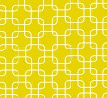 Yellow retro network squares Sticker