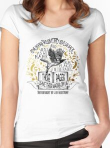 Nevernight - Books Love Us Back Women's Fitted Scoop T-Shirt