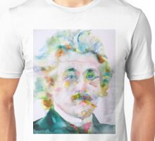 ALBERT EINSTEIN - watercolor portrait.9 Unisex T-Shirt