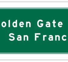 Golden Gate Bridge-SF, US Route 101, Road Sign, California Sticker