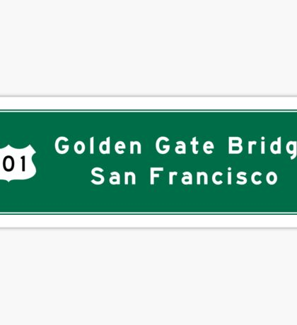 Golden Gate Bridge-SF, US Route 101, Road Sign, California Sticker