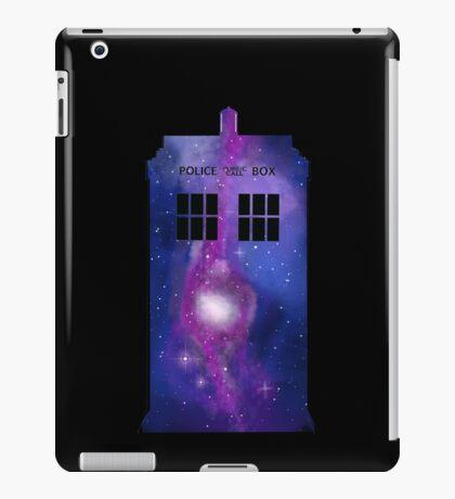 Doctor Who Tardis Purple Galaxy Design iPad Case/Skin