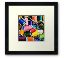 Threads - Colorful Sewing Thread painting Framed Print
