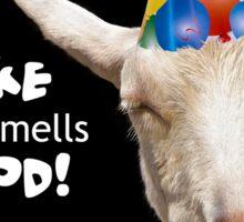 Party Goat Smells Birthday Cake Sticker
