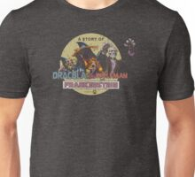 A Story of Dracula, the Wolfman, and Frankenstein Unisex T-Shirt