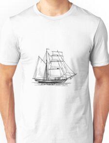 Brigantine Sailing Ship Unisex T-Shirt