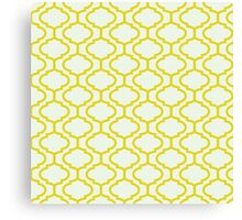 Mughal lattice bright yellow pattern Canvas Print