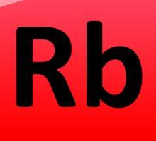 Rubidium Element Symbol - Periodic Table Sticker