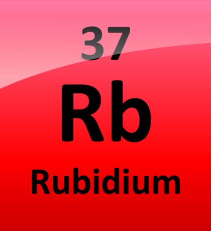Rubidium Element Symbol - Periodic Table Sticker