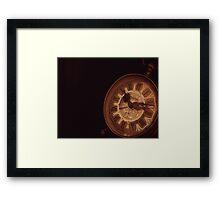 The Old Clock Framed Print