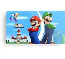 Mario & Luigi Metal Print