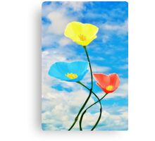 Paintbox Flowers Canvas Print