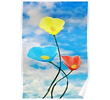 Paintbox Flowers Poster