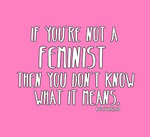 If you're not a feminist then you don't know what it means. by dubukat
