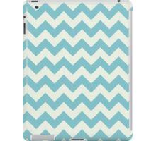 Blue retro Chevron pattern  iPad Case/Skin