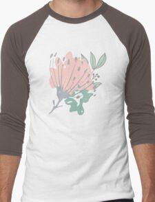 Flowers Art Abstract Men's Baseball ¾ T-Shirt