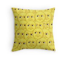Moon emoji layered small Throw Pillow