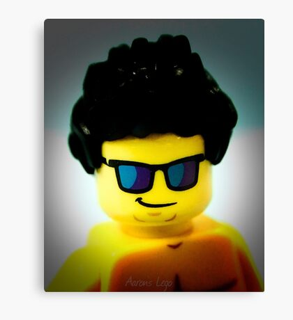 Lego me with a slightly blue background Canvas Print