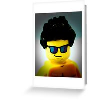 Lego me with a slightly blue background Greeting Card