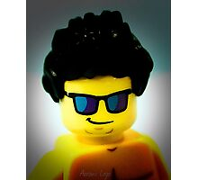 Lego me with a slightly blue background Photographic Print