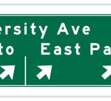 Palo Alto, Road Sign, California Sticker