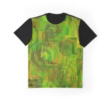 Yellow and Rounds Graphic T-Shirt