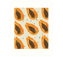 Papayas pattern Art Print